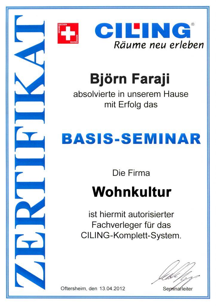 Zertifikat Ciling